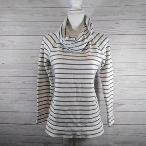 Lou & Grey cowl neck sweater striped